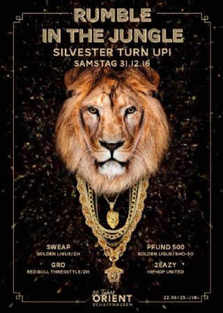 Rumble in the Jungle – Silvester Turn Up!
