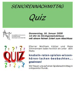 Seniorennachmittag Quiz